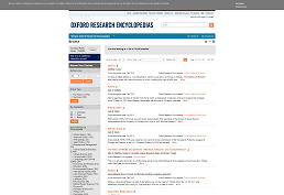 screenshot of Oxford Research Encyclopedias home page