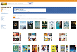 Screenshot of Novelist Plus home page