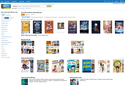Screenshot of Novelist K-8 home page
