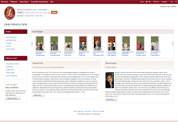 Screenshot of Literary Reference Center homepage