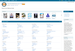 screenshot of Points of View Reference Center homepage