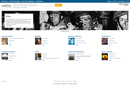 Screenshot of Explora Public Libraries homepage