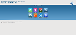 screenshot of worldbook homepage